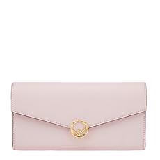 Fendi 芬迪 女士淡粉色牛皮长款钱包 8M0365-A18B-F01KW
