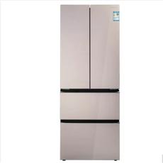 美菱(MeiLing)362升 變頻多門冰箱 風冷無霜 對開門玻璃面板 四門家用電冰箱 BCD-362WPB