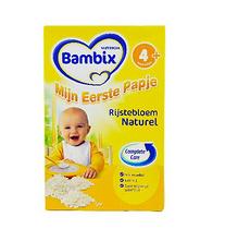4盒【荷蘭】牛欄 Bambix 1階段純大米米粉 原味 (4個月以上)荷蘭直郵
