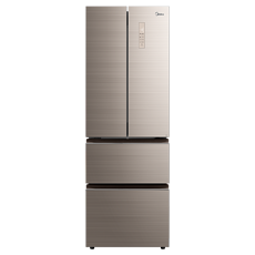 美的(Midea)325升多門冰箱風冷無霜家用對開門多門家用法式節能電冰箱 BCD-325WTGPM 凌波金