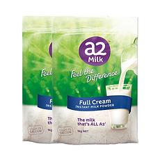 2袋【新西兰】A2 成人全脂牛奶粉 1kg(万博Manbetx官网仓发货)