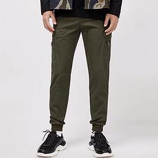 杰克琼斯2020新款时尚潮流纯色百搭口袋工装休闲裤