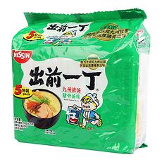 【香港】出前一丁 九州浓汤猪骨汤味方便面 100g*5袋