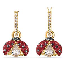 【2020新款】Swarovski 施華洛世奇 女士紅色瓢蟲耳環 5537490 香港直郵