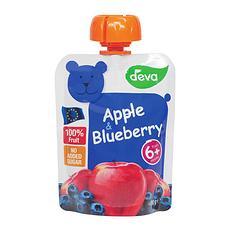 6袋装【捷克】蒂娃 苹果蓝莓吸吸乐果泥 婴儿果泥蔬菜泥90g/袋(香港直邮)