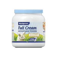 2罐裝【澳大利亞】美可卓 Maxigenes藍胖子全脂奶粉 1kg(保稅倉發貨)