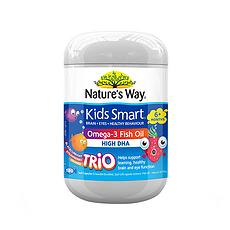 【澳大利亚】佳思敏 儿童深海鱼油DHA爆浆水果味软糖 180粒/瓶 万博Manbetx官网仓发货