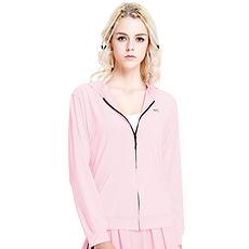 韩国 VVC 长袖防晒服中长款户外超薄外套防晒衫 粉色