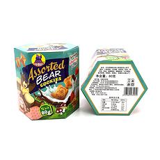 【印尼】 河马莉 综合味味小熊造型饼夹心饼干 80g/盒