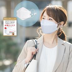 預售2.20號發貨【日本】JIMAN 四層防護口罩99%過濾 5片一組 獨立包裝 附贈耳繩掛鉤(香港直郵)