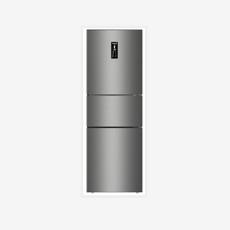 美菱(MELING)251升风冷无霜BCD-251WE3CX三门冰箱宽幅变温除味杀菌 亚光银