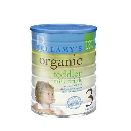 6罐【澳大利亚】贝拉米 有机婴儿奶粉3段(1岁以上) 900g (万博Manbetx官网仓发货)