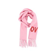 GUCCI 古馳 粉色羊絨女士圍巾 481318-3G334-5800