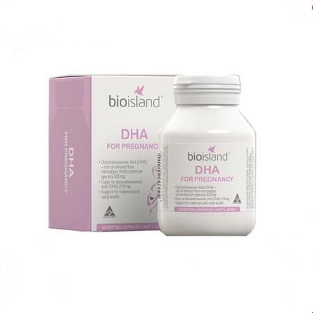 【澳大利亚】佰澳朗德 Bio Island 孕妇专用海藻油DHA 60粒/瓶  香港直邮