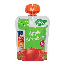 2袋装【捷克】蒂娃 苹果草莓 吸吸乐果泥 婴儿果泥蔬菜泥90g/袋(香港直邮)