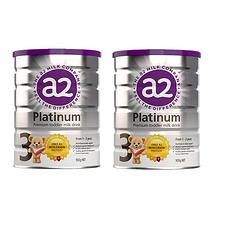 2罐装【新西兰】A2 白金版婴幼儿配方奶粉3段 900g(1岁以上)900g/罐 (万博Manbetx官网仓发货)