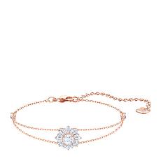 【19年新款】Swarovski 施华洛世奇 女士玫瑰金色镶太阳图案手链