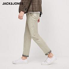 杰克琼斯2020新款莱卡弹力修身纯色休闲裤