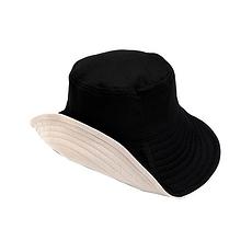 日本 UVCUT 新可折疊花樣太陽帽 黑色+米色 香港直郵