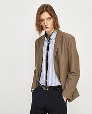 杰克琼斯2020春夏新款修身纯色商务复古西服外套