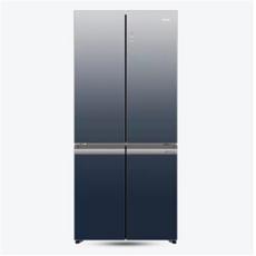 海爾(haier)雙變頻一級能效超薄風冷無霜十字對開門雙對開門四門電冰箱 BCD-502WDCEU1