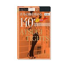 两件装 日本 ATSUGI厚木 发热连裤袜  FP12152P-480 140D 黑色 2双 L-LL 万博Manbetx官网区邮