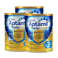 3罐装【新西兰】爱他美 金装婴幼儿奶粉3段(1-2岁) 900g/罐 (澳洲直邮)