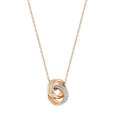 Swarovski 施华洛世奇 玫瑰金质感转运螺旋女士项链吊坠 5240525 香港直邮