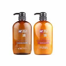 日本 KUMANO熊野油脂 马油洗发水600ML+马油护发素600ML 组合装 万博Manbetx官网区邮