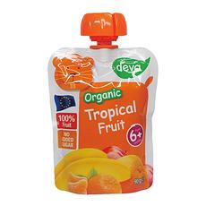 6袋装【捷克】蒂娃热带水果吸吸乐果泥 婴儿果泥蔬菜泥90g/袋(香港直邮)