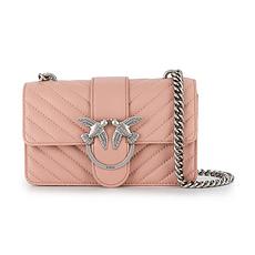 QHPinko 品高 女士Mini Love系列淡粉色羊皮斜挎包 1P21K0-Y5V1Q19 香港直邮