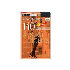 日本 ATSUGI厚木 发热连裤袜 FP12152P-480 140D 黑色 2双 M-L 万博Manbetx官网区邮