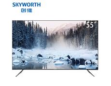 创维65G50 65英寸 4K超高清 全面屏电视 智能平板 液晶电视机