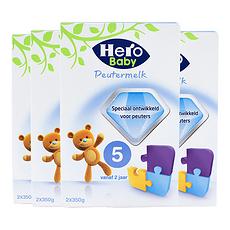 4盒【荷兰】Hero Baby美素 婴儿奶粉5段(24个月以上宝宝)700g (荷兰直邮)