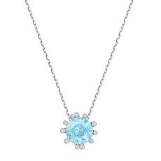 【19年新款】Swarovski 施华洛世奇 女士蓝色水晶项链 5479930