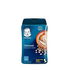 2件裝 美國 嘉寶 純燕麥米粉 1段 227克 保稅倉發貨
