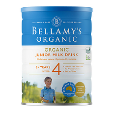 2罐装【澳大利亚】贝拉米 有机婴儿奶粉4段(3-12岁)900g (澳洲直邮)